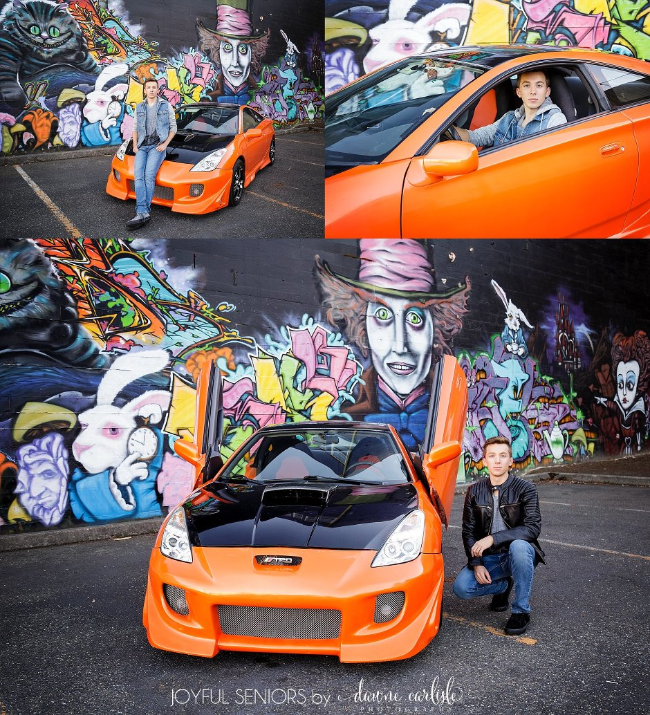 Urban Downtown Tacoma Session at the Alice in Wonderland Graffiti Wall by Dawne Carlisle Photography